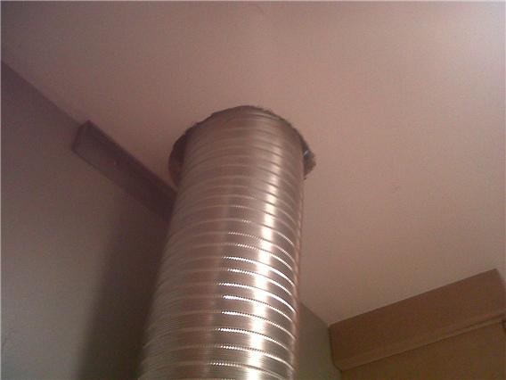 ventilation  How do I airseal a range hood flute  Home