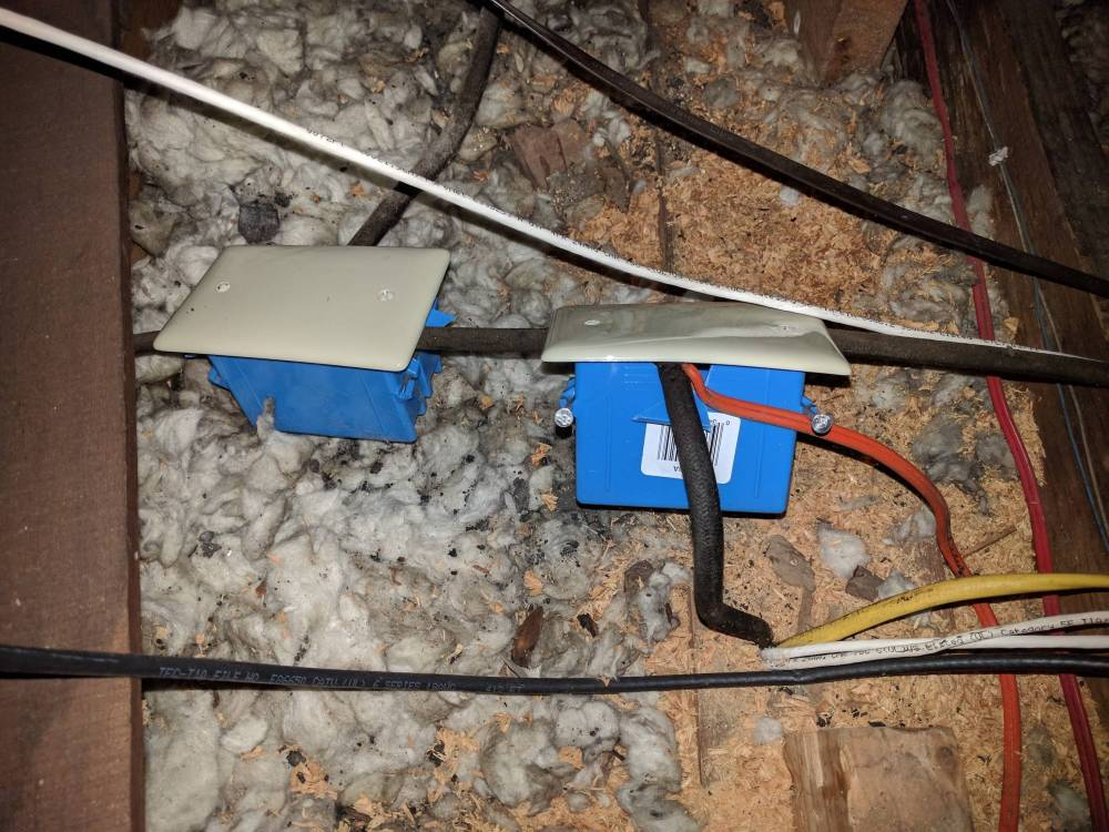 medium resolution of electrical can you cut open a plastic junction box and just lay rh diy stackexchange com electrical wiring breaker box residential electrical wiring