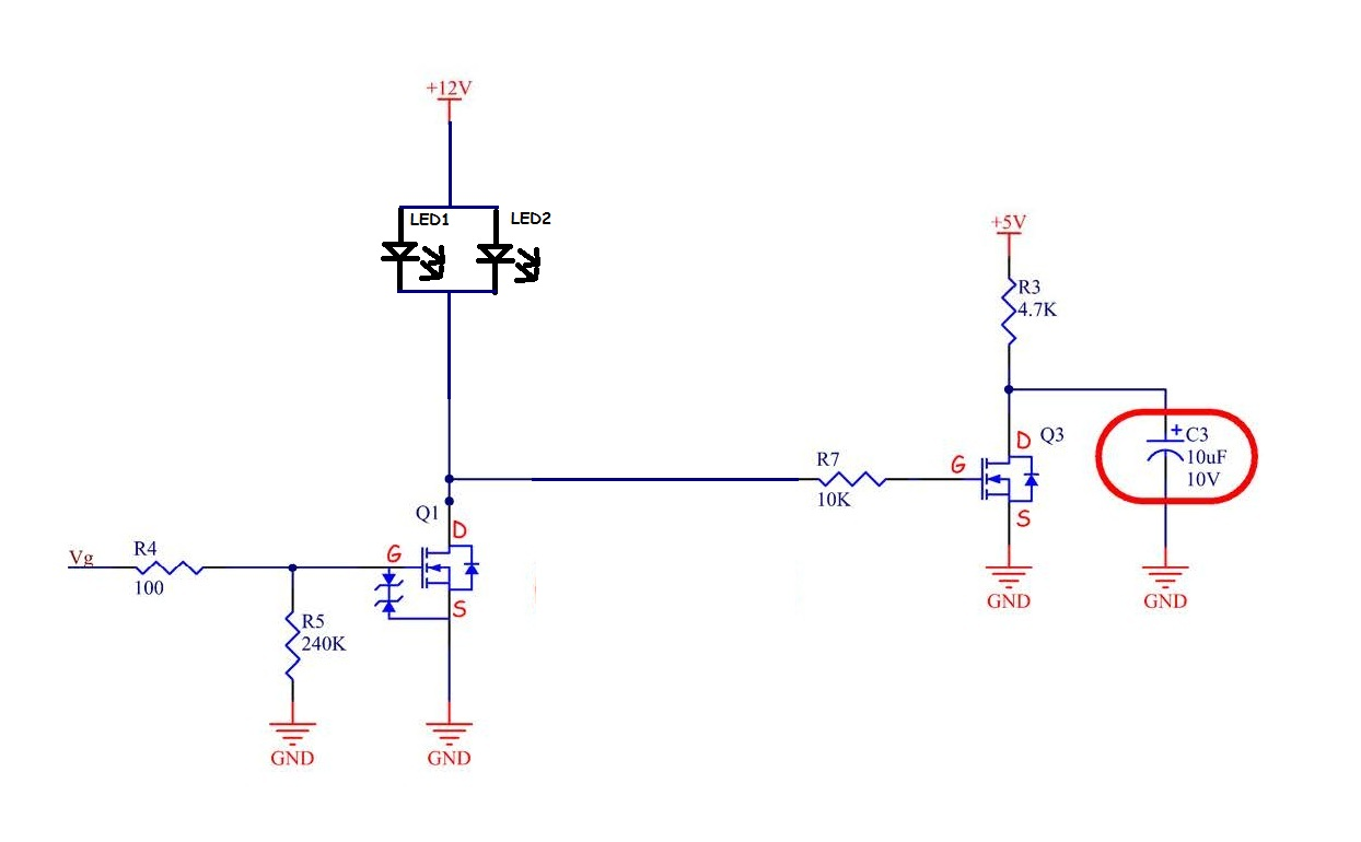 Led Still Shines When Mosfet Is Off