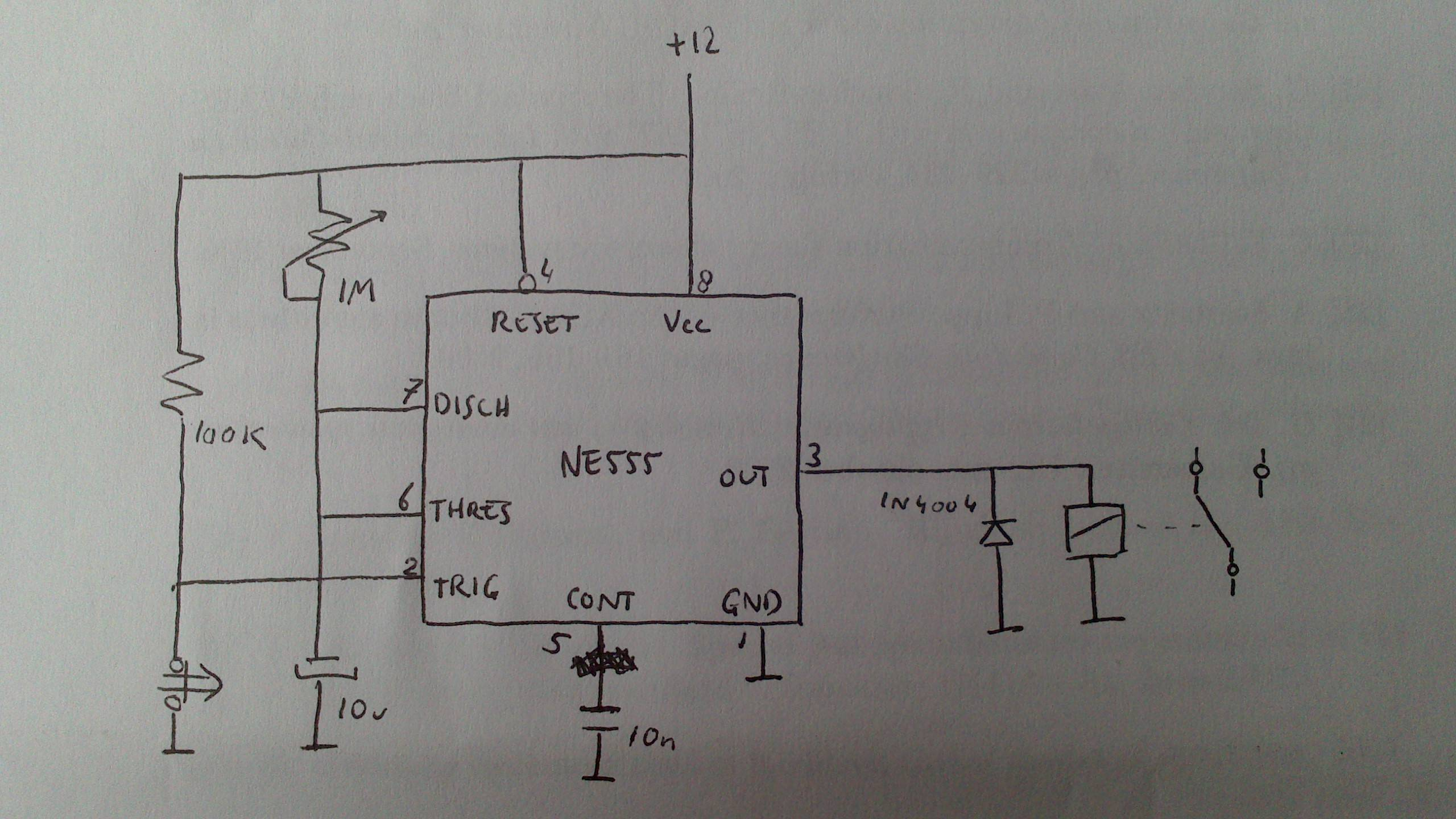 off delay timer wiring diagram 99 jeep grand cherokee limited radio 10 second on time with a potentiometer