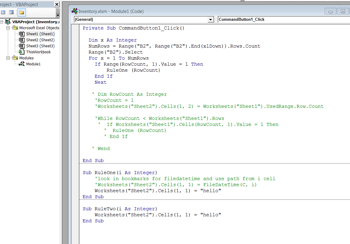 Loop Through Excel Rows And Call Vba Functions