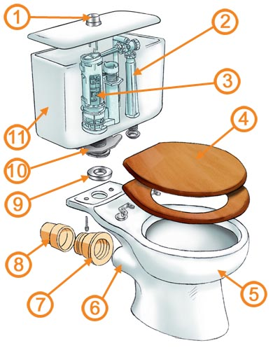 diagram of a toilet flush system gm gm2 gs xg plumbing - is it bad idea to temporarily caulk base leak? home improvement stack ...