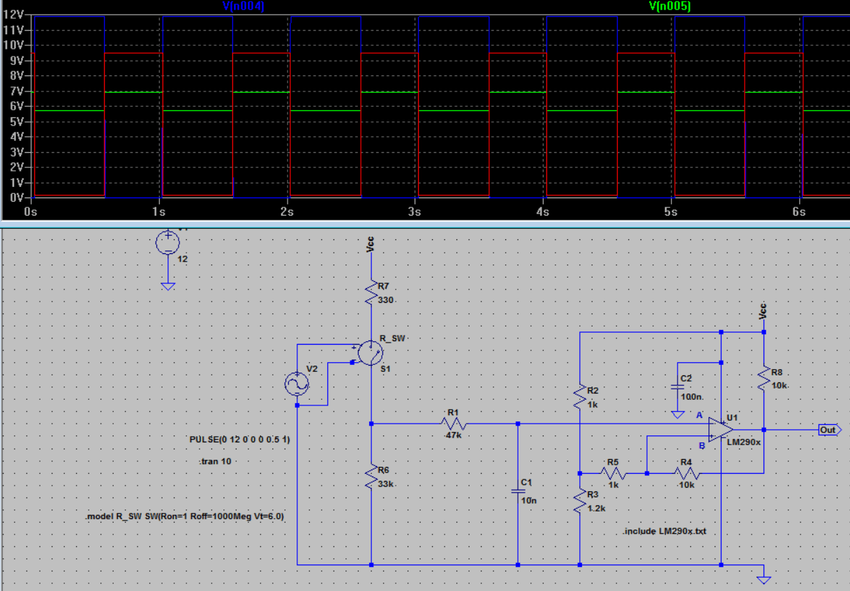 Figure 5 Comparator Circuit With Hysteresis