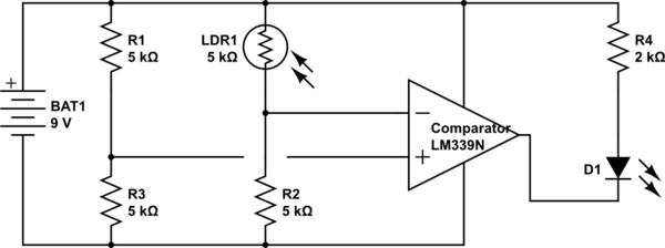 circuitlab photoresistor voltage divider