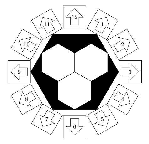 Drawing complex inscribed and circumscribed polygons in