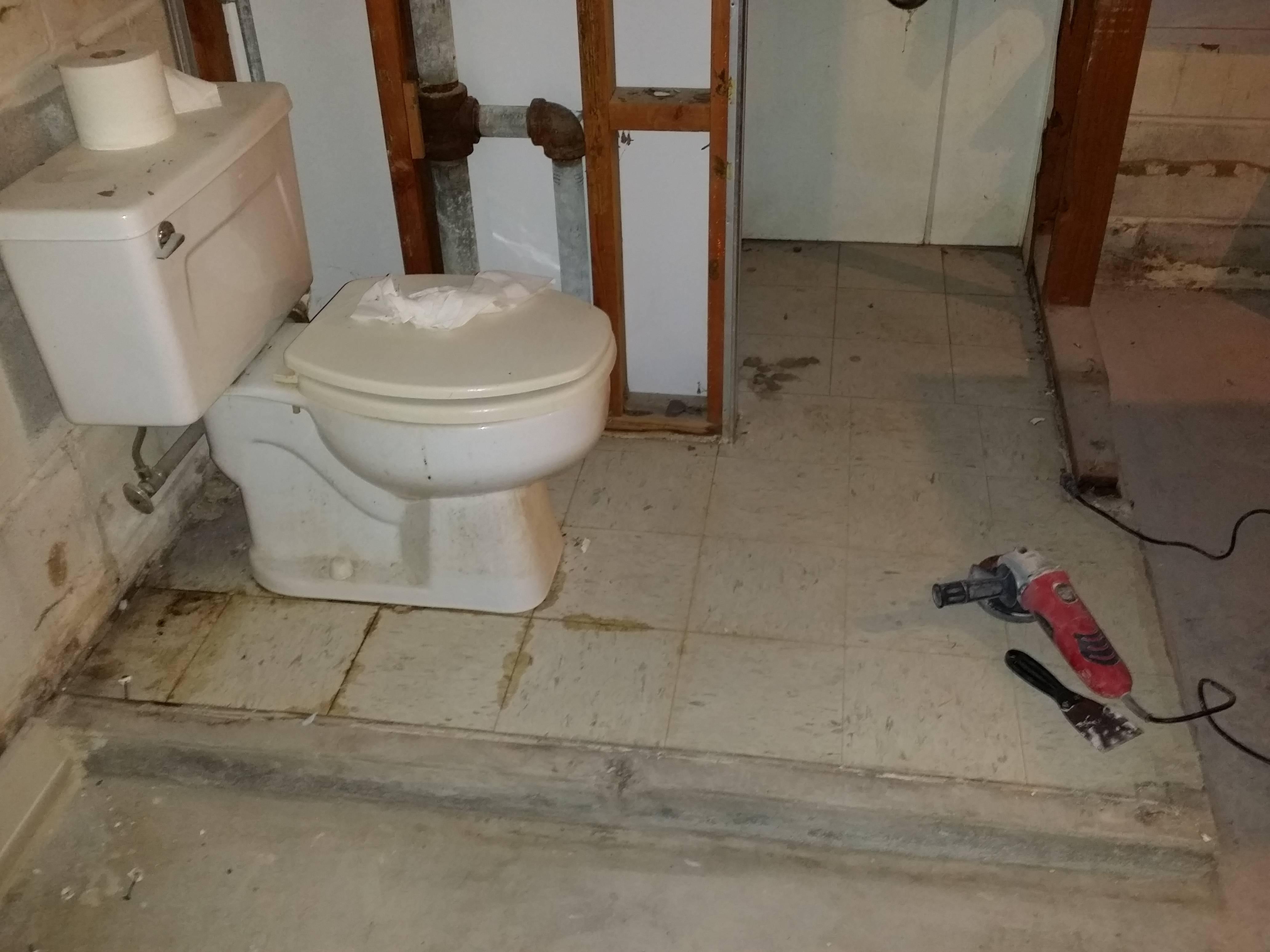 bathroom plumbing diagram concrete slab dodge ram wiring can i break up the floor of a raised basement