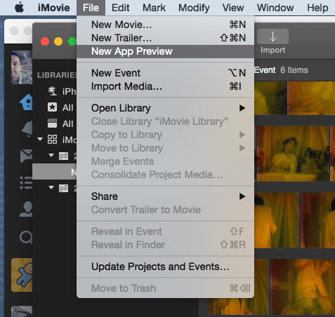 macos  Apple said we can use iMovie to make App Previews