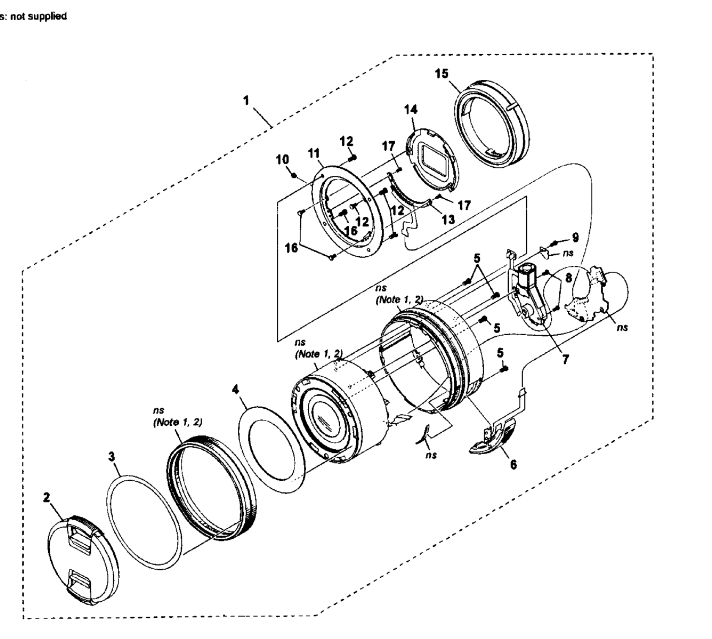 Where can I find a repair diagram for Sony SELP1650 lens