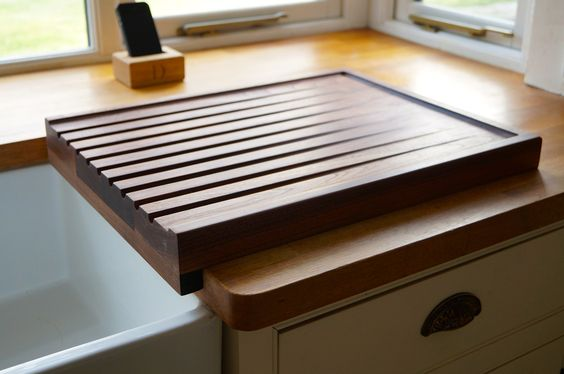 How To Make Dish Drainer Board From Plywood Shelf