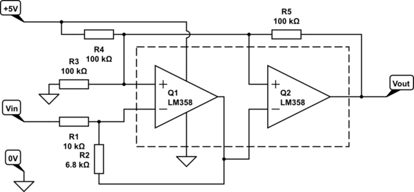 Single-supply DC amplifier circuit with