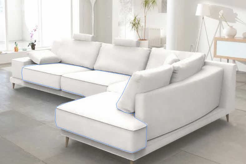 l shaped sofa living room sofas direct from manufacturer wales photoshop - how to make a 3d model an object in ...