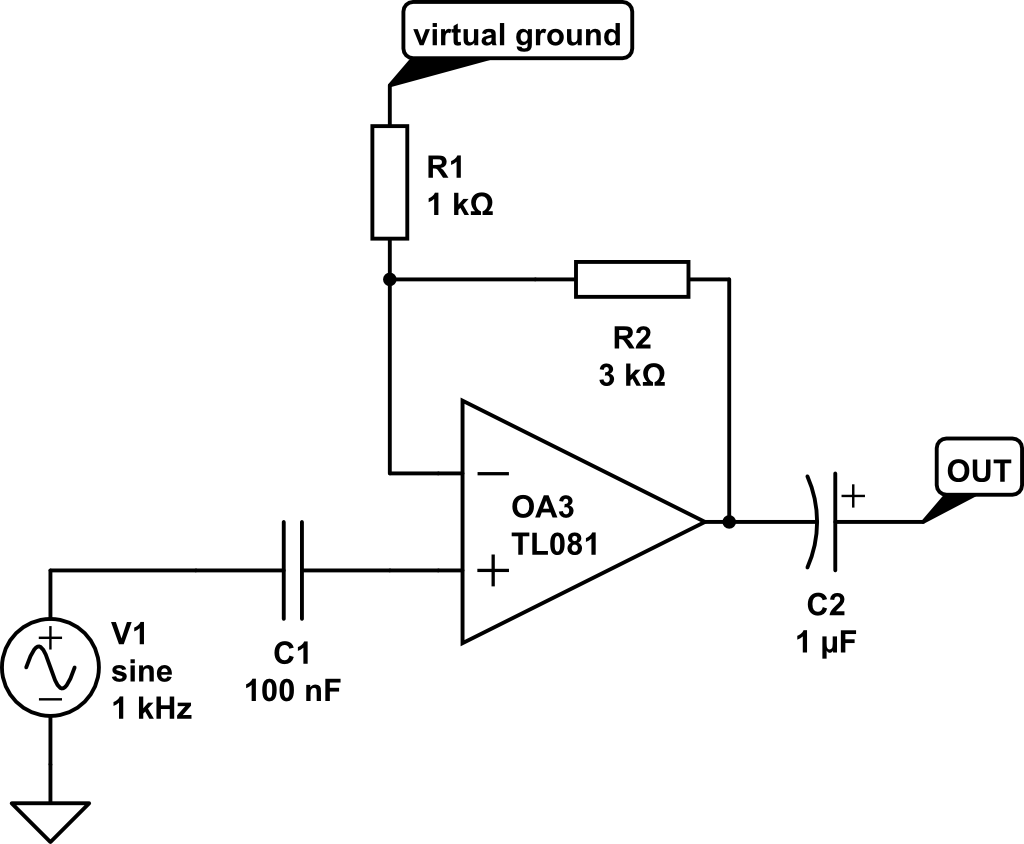 harmonic generator with single opamp