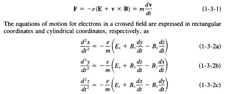 differential equations  Ion motion in uniform axial
