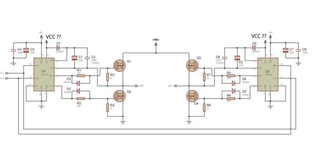 medium resolution of choose vcc for mosfet driving a 48v motor