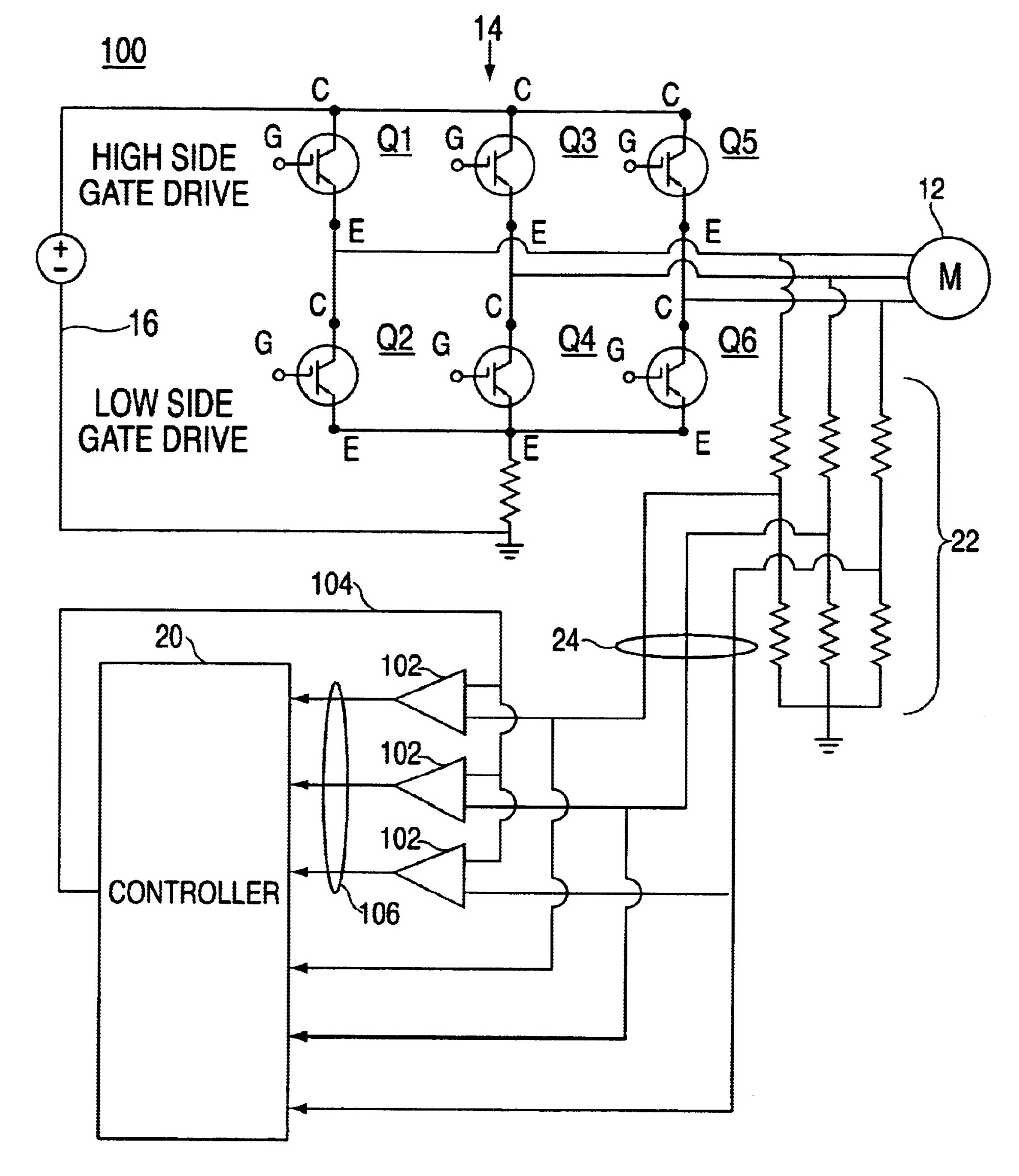 hight resolution of back emf detection circuit