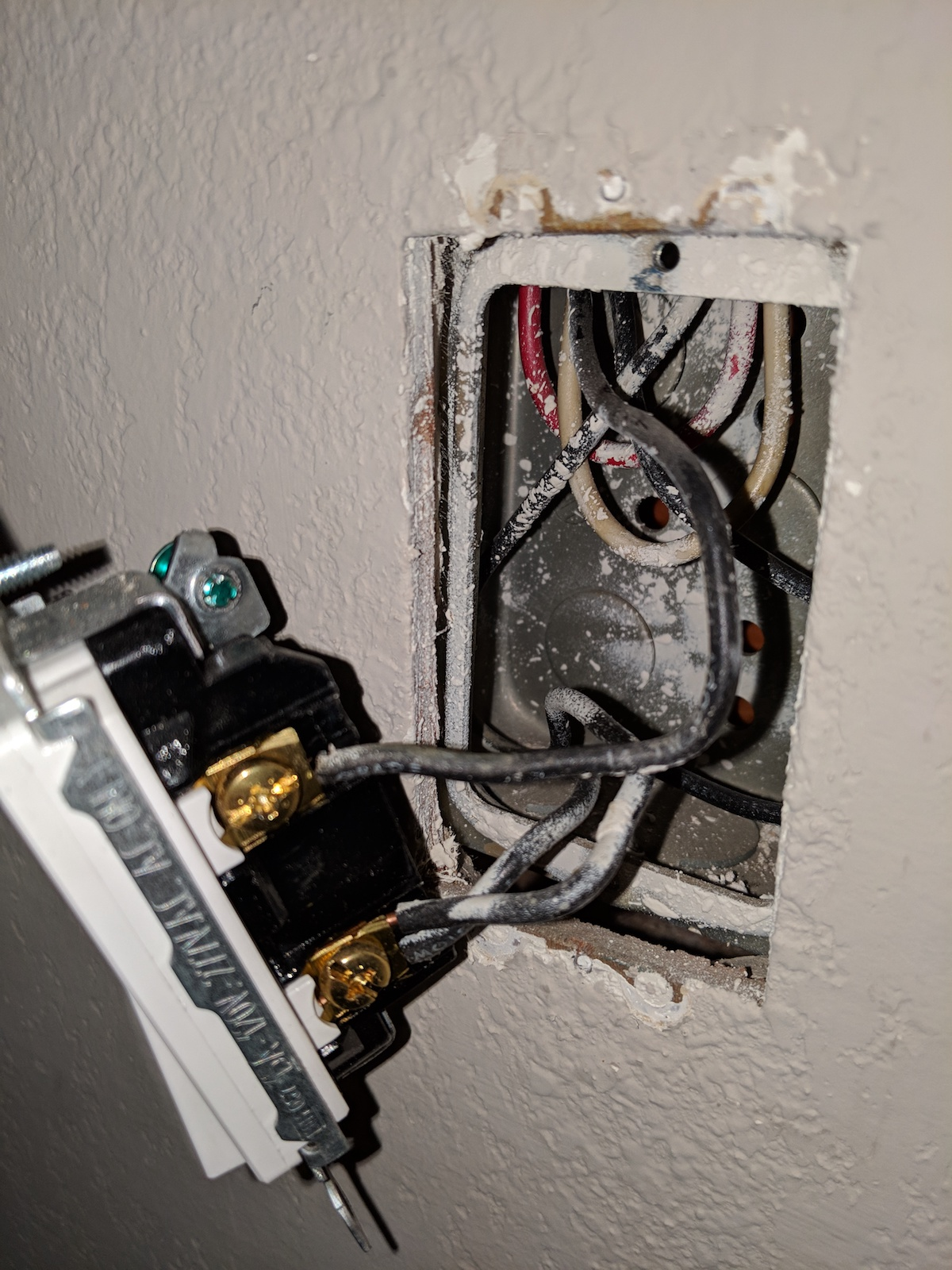 hight resolution of i am installing a smart switch so i need a neutral i am a bit confused which wire is which in my wall switch box below is a picture of the wires