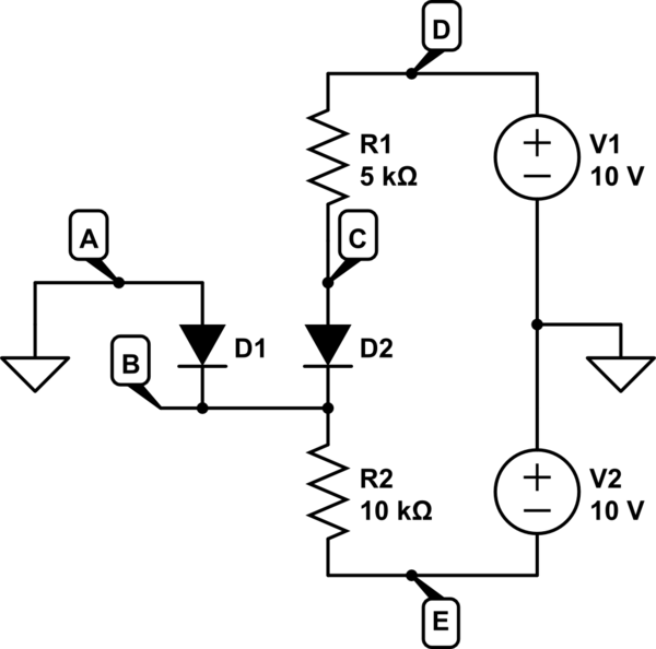 How to approach diode circuit analysis (novice