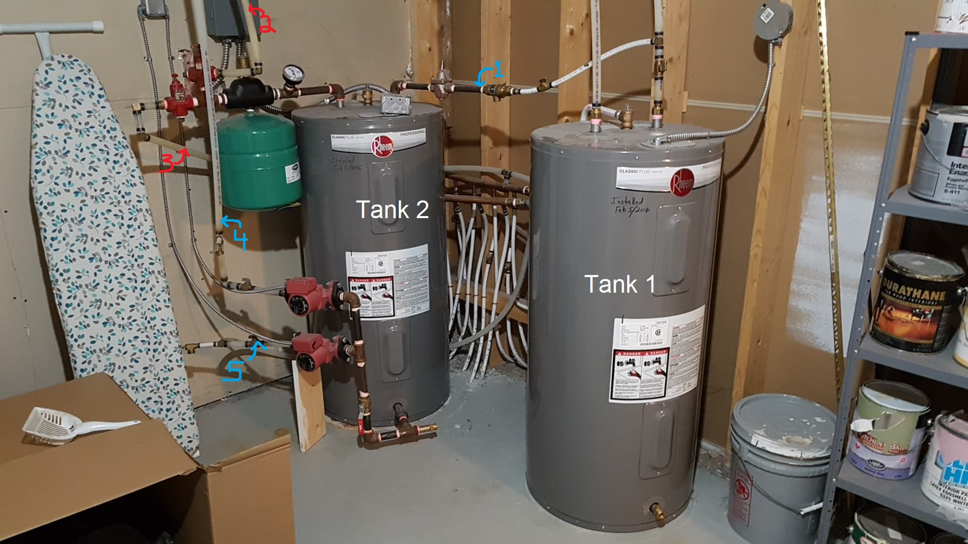 hight resolution of hot water and in floor heating system