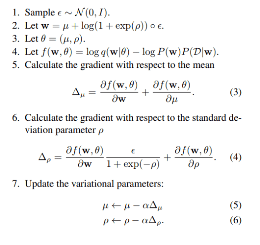 bayes by backprop algorithm