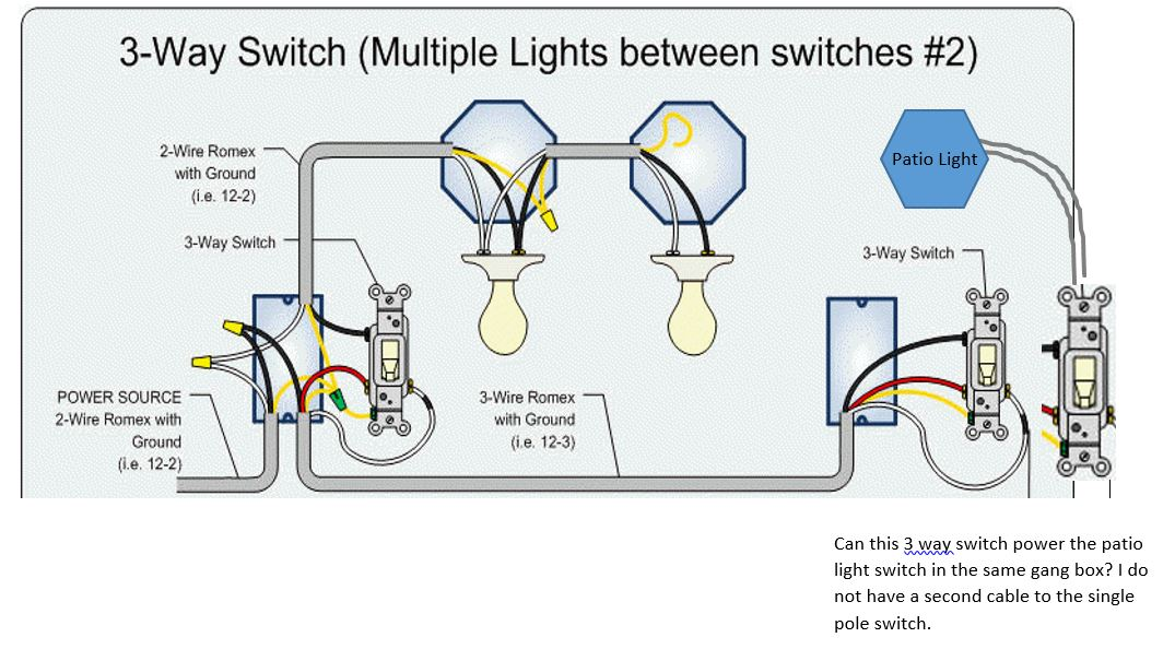 Can I Power A Single Pole Switch From The End Of A 3 Way? Home