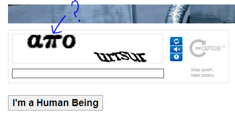 hard to type captcha