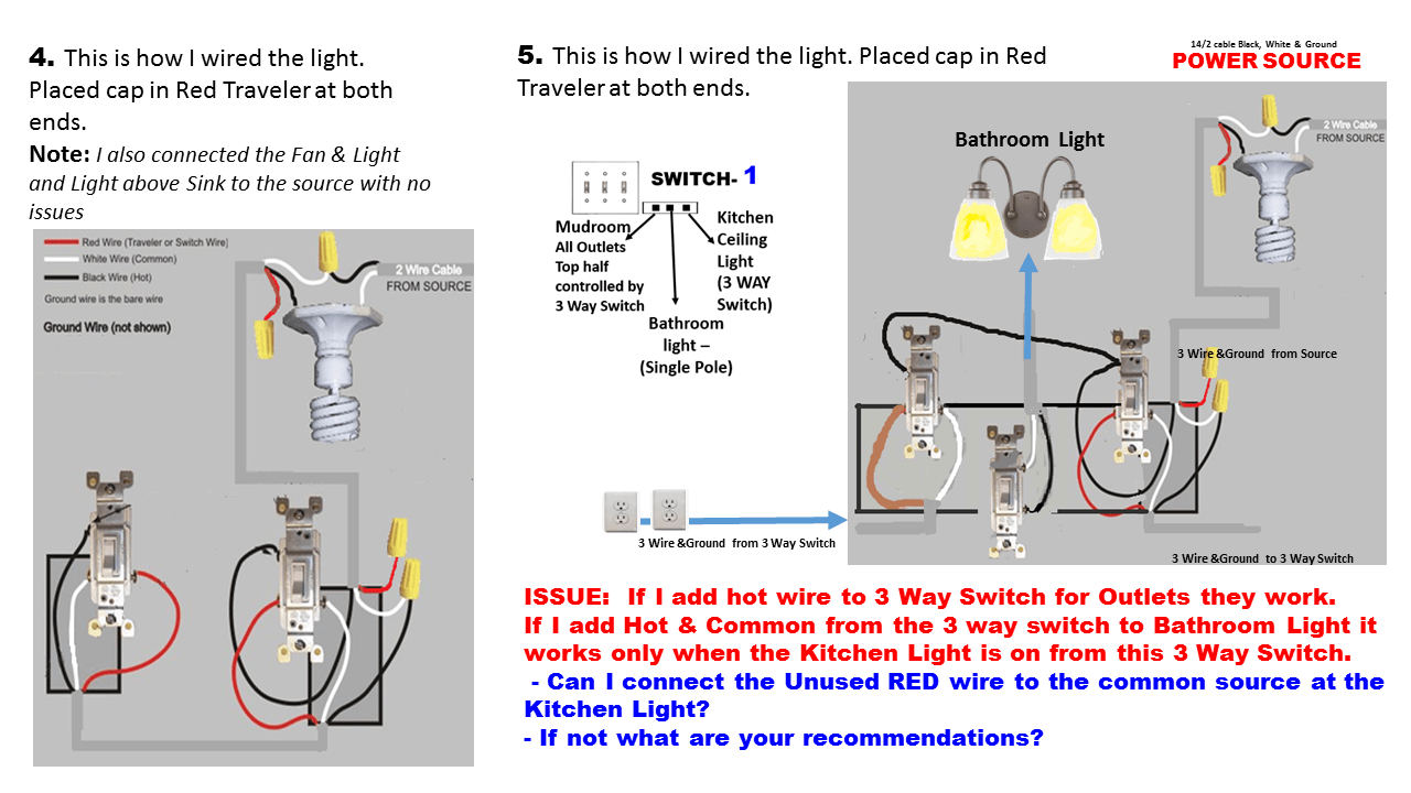 hight resolution of electrical how can i add wiring to get my three way switch to work correctly wiring a 3 way switch properly wiring a 3 way switch
