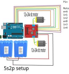 here is the circuit diagram l298 motor driver circuit wiring arduino and motor driver l298n separate [ 4791 x 2622 Pixel ]