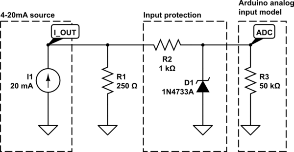 Circuit Diagram Of 4 20ma Source