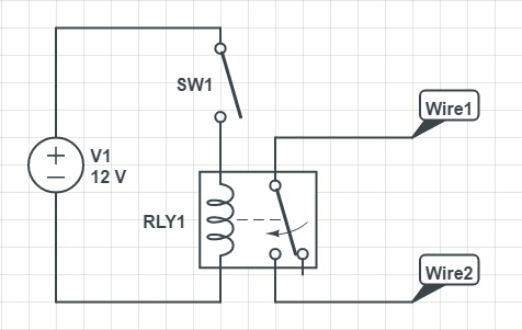 How to configure a relay to operate as a transistor
