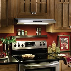 Kitchen Hood Vent Grey Cabinets Stove Can I Move The Range But Not Roof Angled Enter Image Description Here
