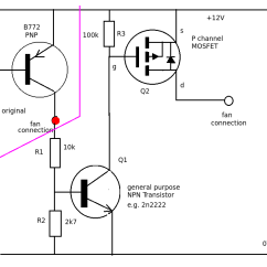 Transistor Wiring Diagram Bee R Rev Limiter Running A Mosfet From For Fan Controller
