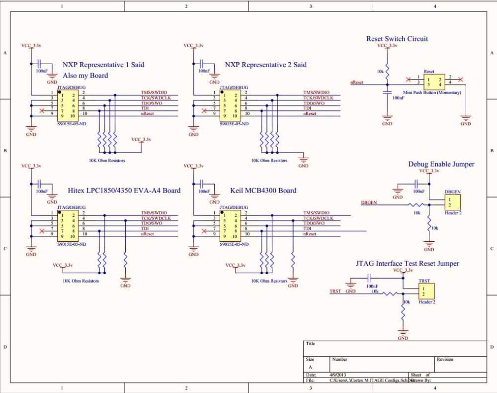 medium resolution of microcontroller consensus on proper wiring for cortex m 10 pin jtag wiring diagram