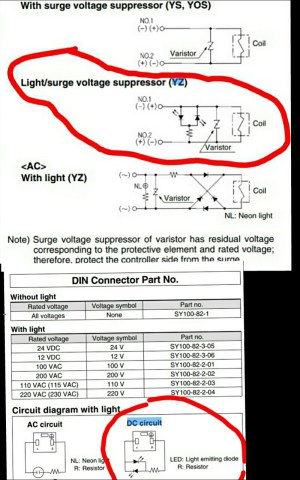 Wiring DIN connector with 3 wire DC solenoid valve