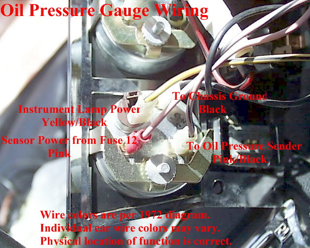 Amp Meter Wiring Diagram For Chevy Electrical What Is The Pin Layout Labels Of This Oil