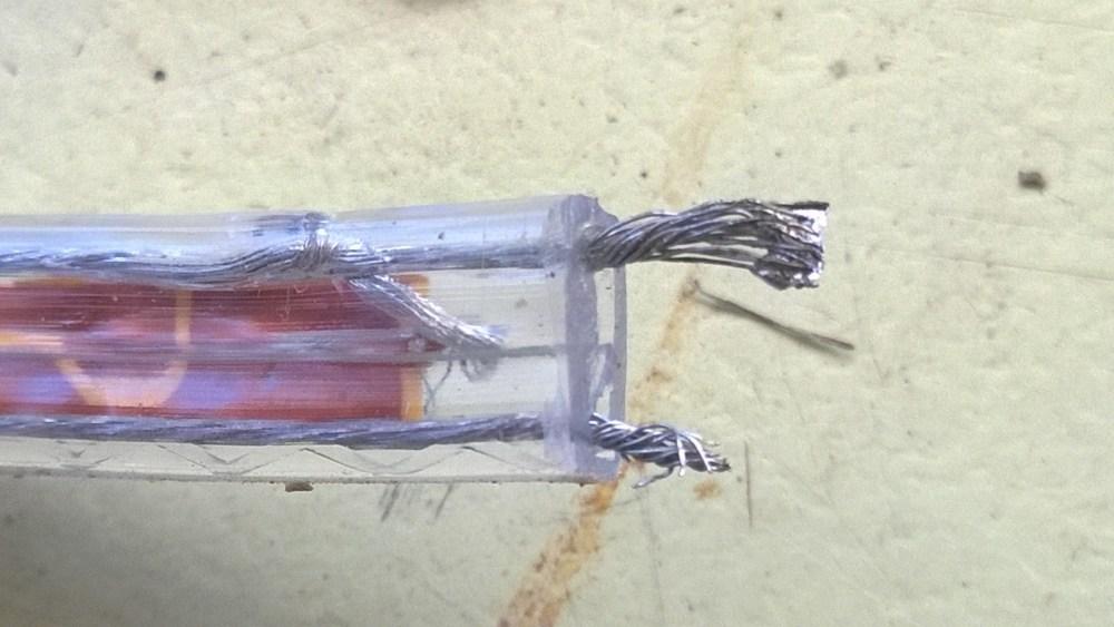 medium resolution of led strip back led strip front soldering