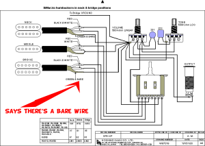 guitar  bare wires from pickups in ibanez diagram