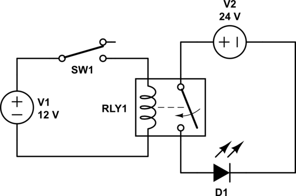 24 volt to 12 volt relay
