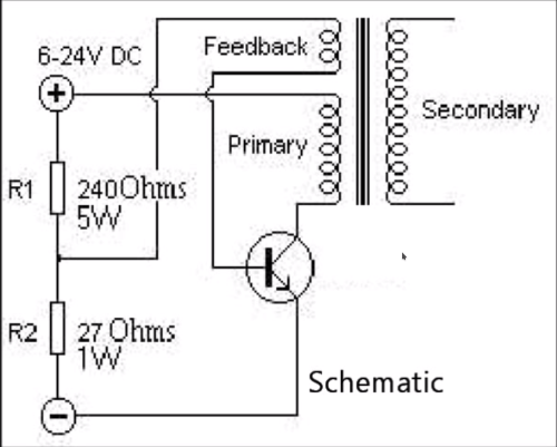 small resolution of understanding a single transistor flyback transformer driver induction coil diagram flyback transformer wiring diagram