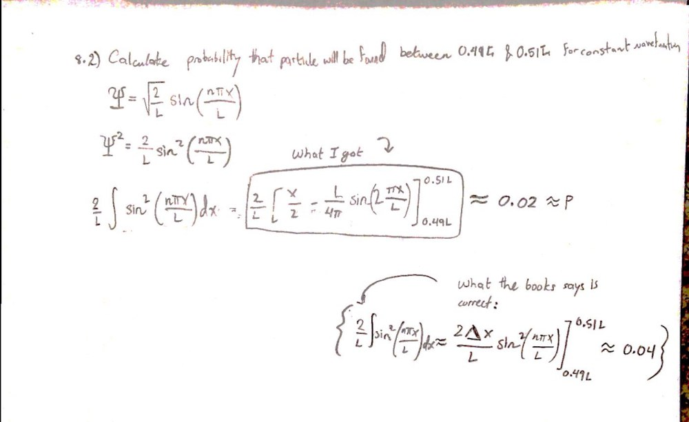 medium resolution of wavefunction problem wrong in solutions manual closed
