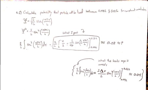 small resolution of wavefunction problem wrong in solutions manual closed