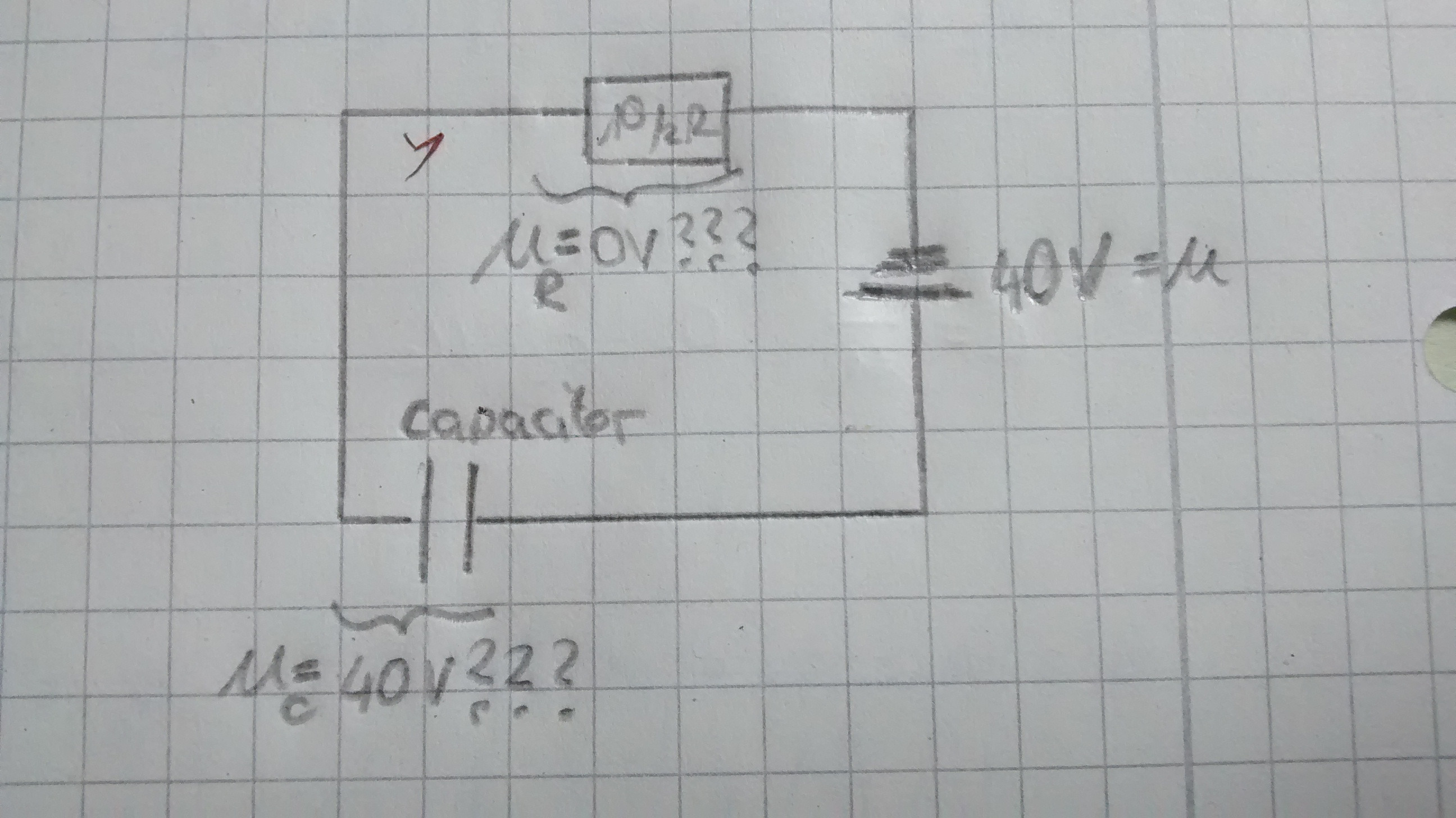 Voltage And Voltage Drop Across Capacitor In A Series Circuit