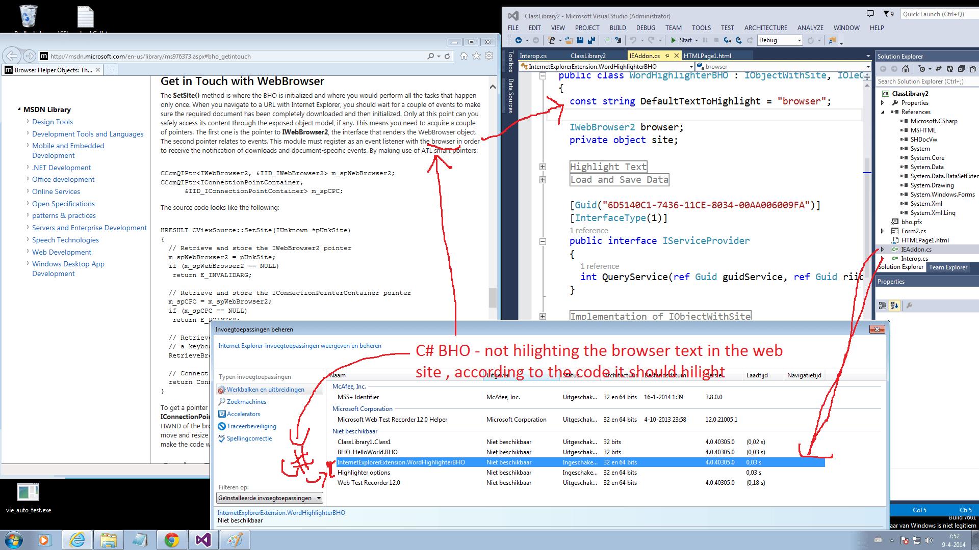 developing internet explorer browser
