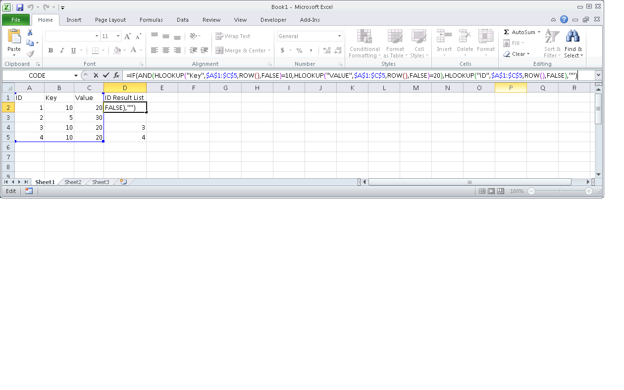 Excel Formula For Each Instance Of Value In Column Get Value Of Another Column In Same Row