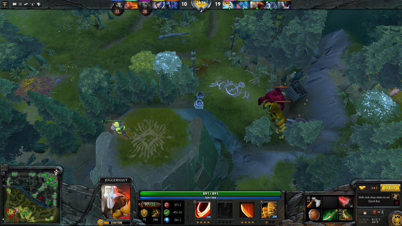 Dota 2 How Big Is The Arearadius That Prevents Neutral