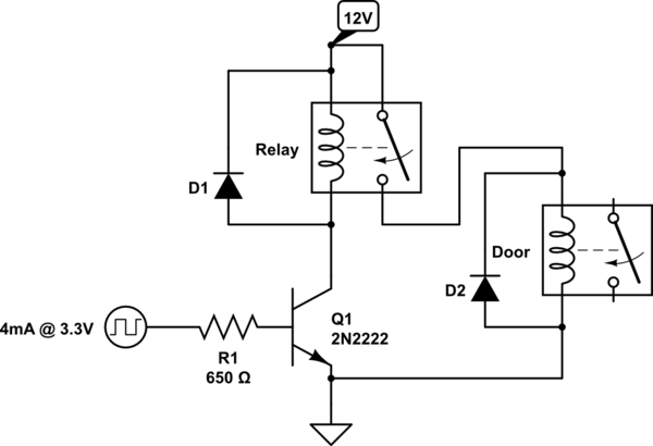 typical circuit of transistor as a switch