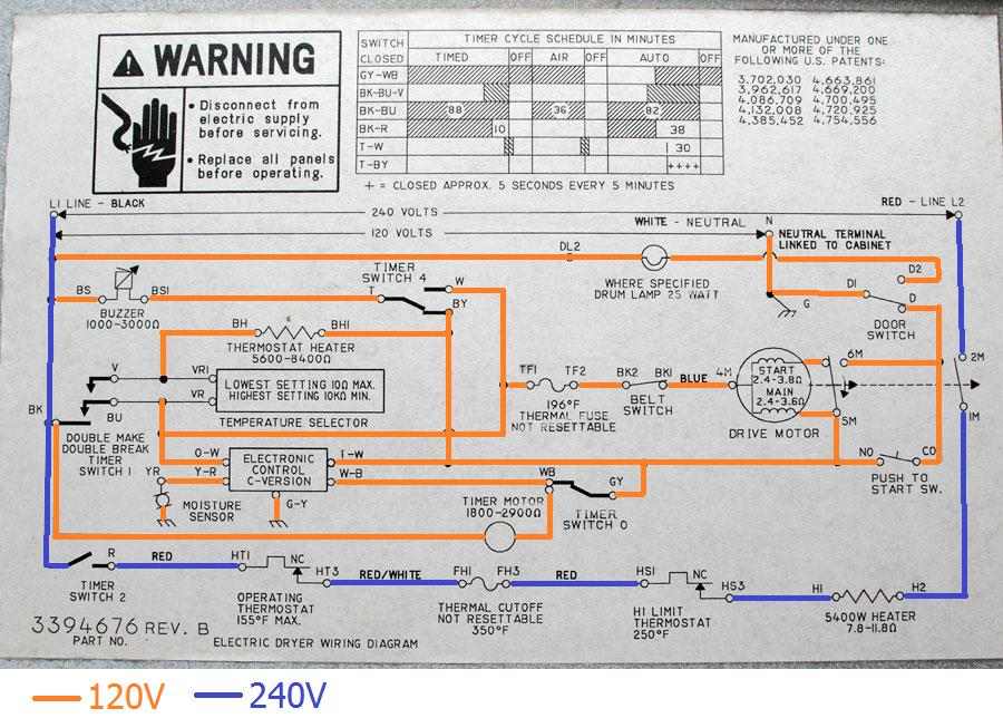 dryer wiring diagram schematic parts of a feather electrical - can receptacle be wired without neutral? home improvement stack exchange