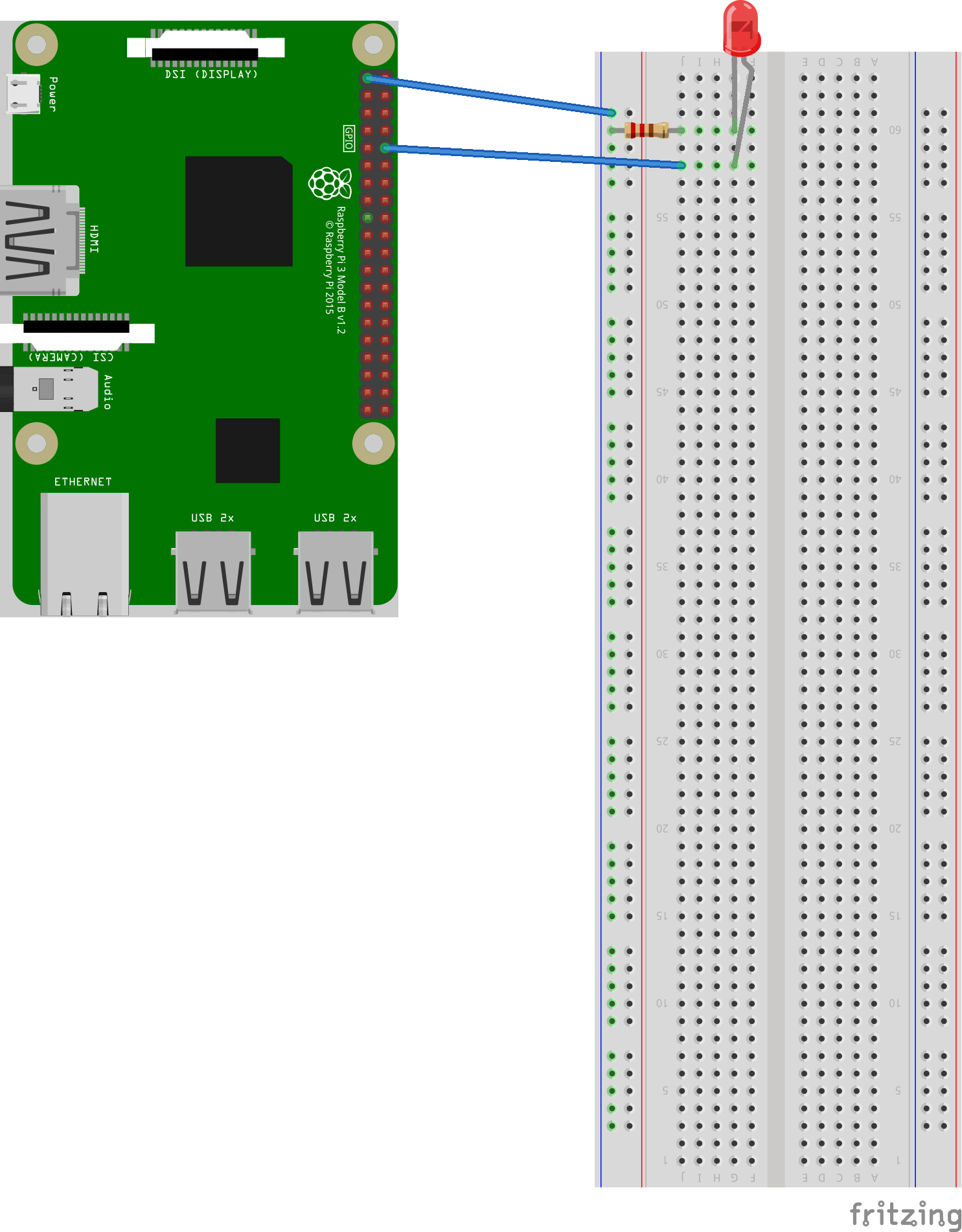 raspberry pi 3 model b wiring diagram how to install 2 way light switch gpio pin for leds and their resistors