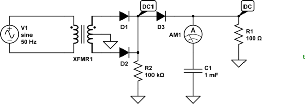 how does the filter capacitor work in a rectifier circuit