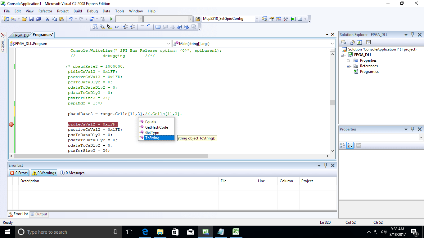 Reading Data From Excel File In C
