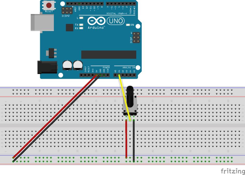 medium resolution of problem reading in arduino serial port with 5k potentiometer single potentiometer circuit